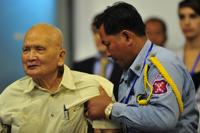 12. In 2007 UN backed tribunals question Khmer Rouge suspects on genocide charges. The senior surviving Khmer Rouge figure, Nuon Chea or 'Brother Number Two' is arrested and charged with crimes against humanity. His trial ended in October 2013 with a verdict expected this year.