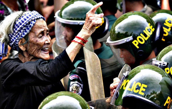 14. The 2013 elections see Hun Sen's CPP retain power amid claims or irregularity. Protests in Phnom Penh accompany parliament's approval of a further 5 year term for Hun Sen.
