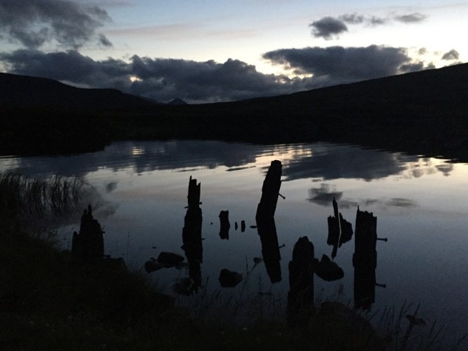 Loch Ossian at night